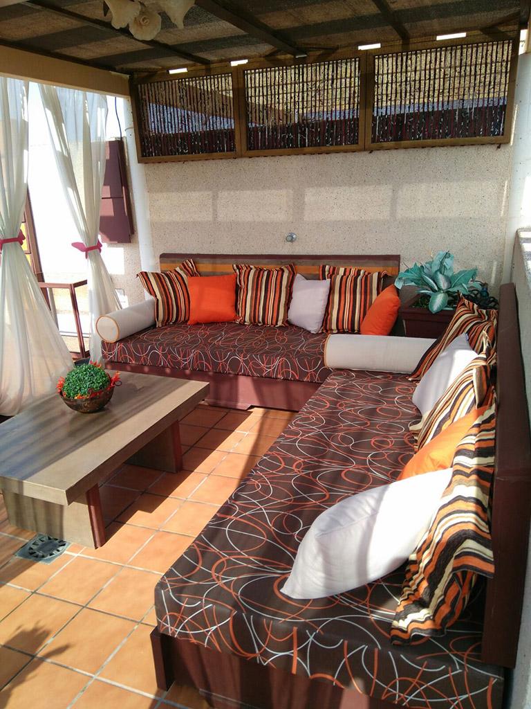 Sofás artesanos para terraza