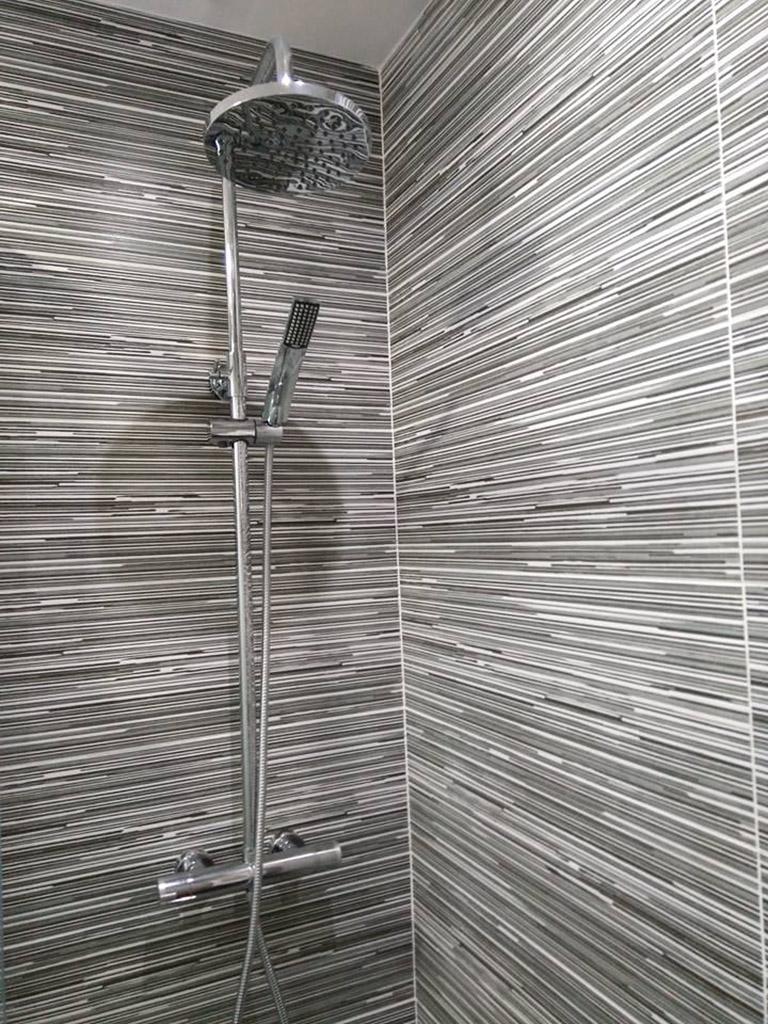 Detalle de la alcachofa de la ducha