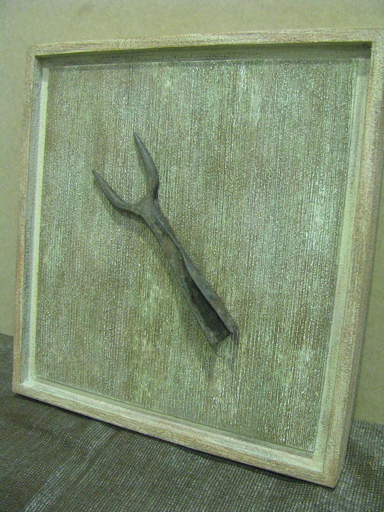Cuadro con pieza antigua