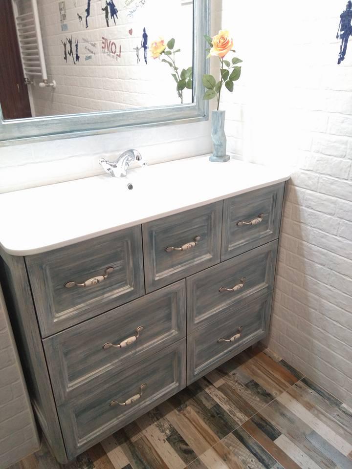 Mueble de baño patinado